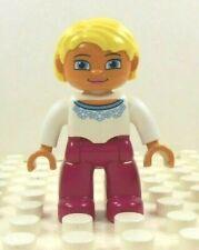 LEGO DUPLO ASIAN DAD FATHER MAN GUY Blue Shirt Tan Pants FIGURE Rare