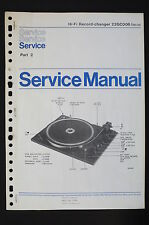 PHILIPS HIFI Record Changer 22GC006 Original Service-Manual/Schaltplan Part2 o57