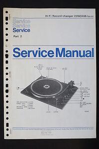 Philips-HiFi-RECORD-CHANGER-22gc006-ORIGINAL-SERVICE-MANUAL-Wiring-Diagram-Part2