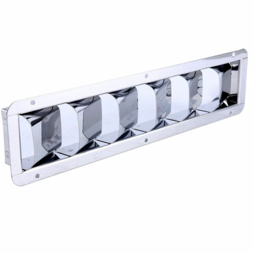 Stainless Sport 6 Louvered Boat//Marine Engine Vent 6-Slotted Louvered Ventilator