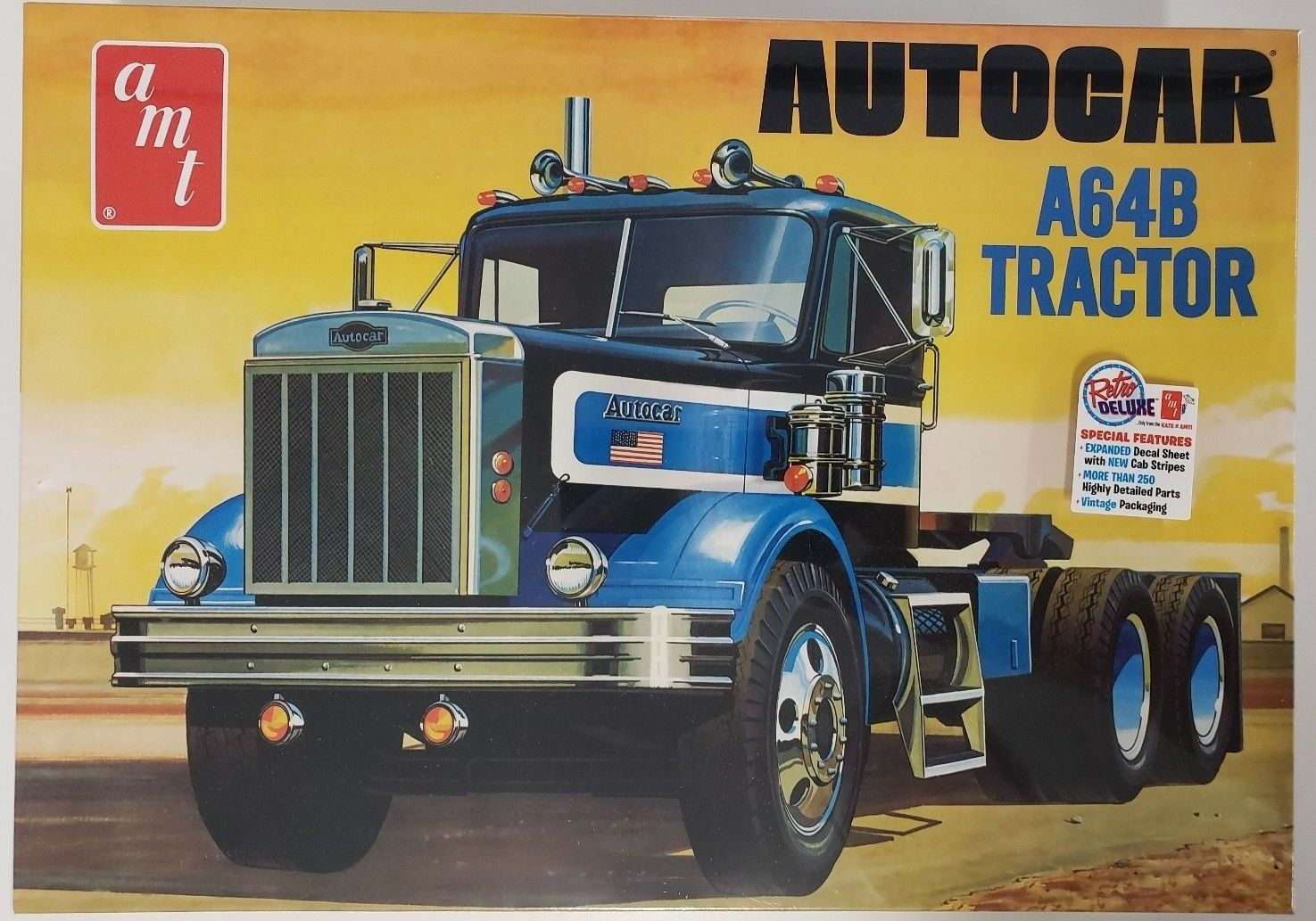 AMT1099 Autocar A64B Tractor 1 25 Scale Plastic Scale Model Kit