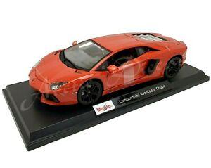 Maisto-2020-1-18-Edicion-Especial-Rojo-Metalflake-Lamborghini-Aventador-Coupe