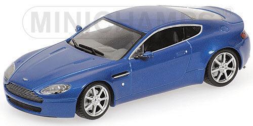 Aston Martin V8 Vantage 2005 bluee 400137422 Minichamps 1 43 NEW in a Box  RARE