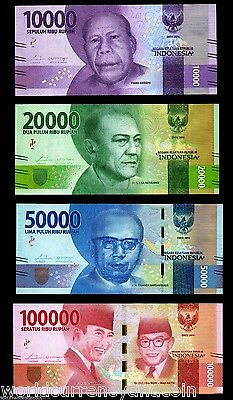 One Each 2000//5000//10000 Rupiah Indonesian UNC Uncirculated Banknote IDR 1
