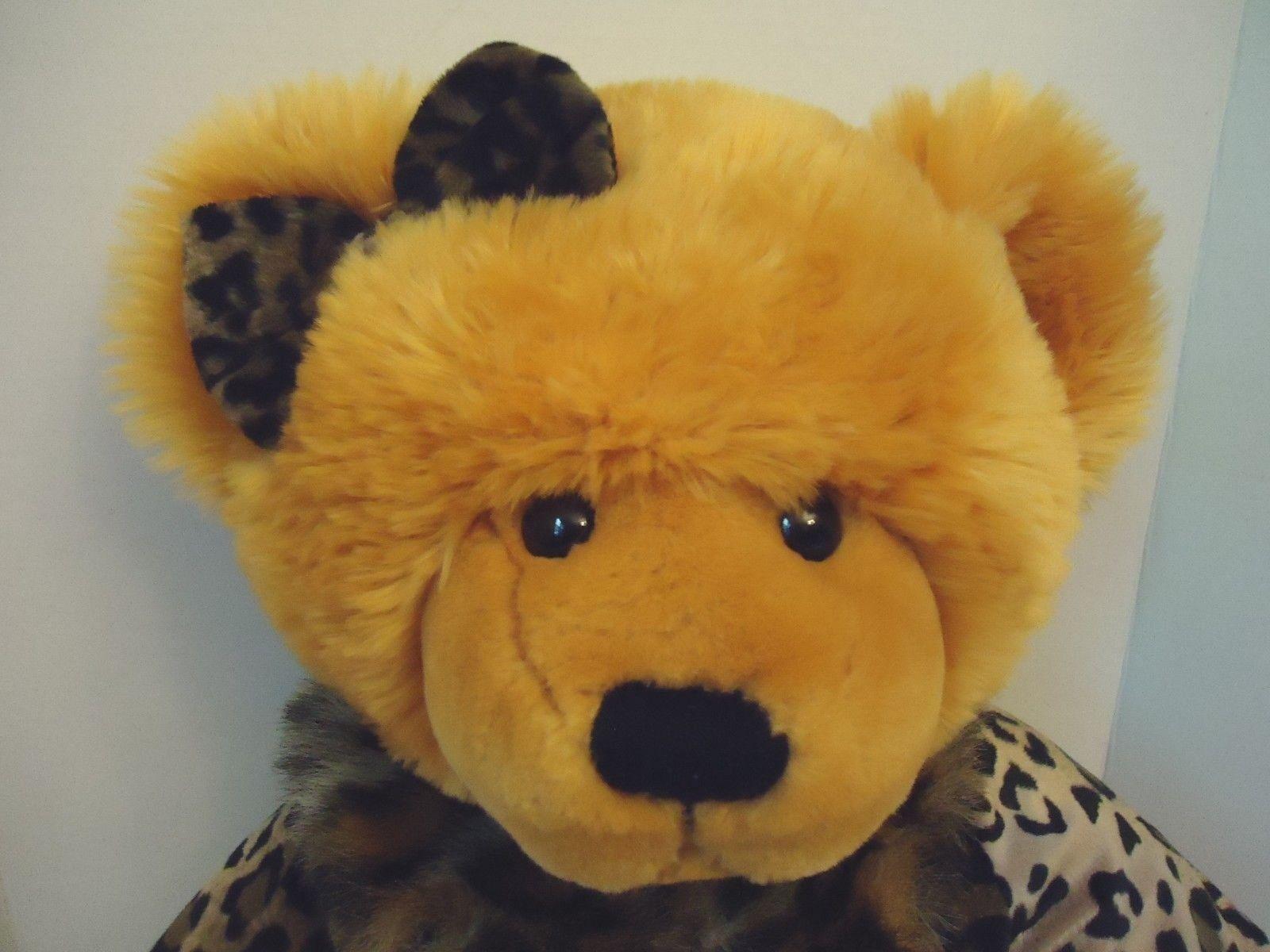 JC Penney Holiday Collection 25  Girl Girl Girl Teddy orso Plush Leopard Coat arancia Rust 3cca18