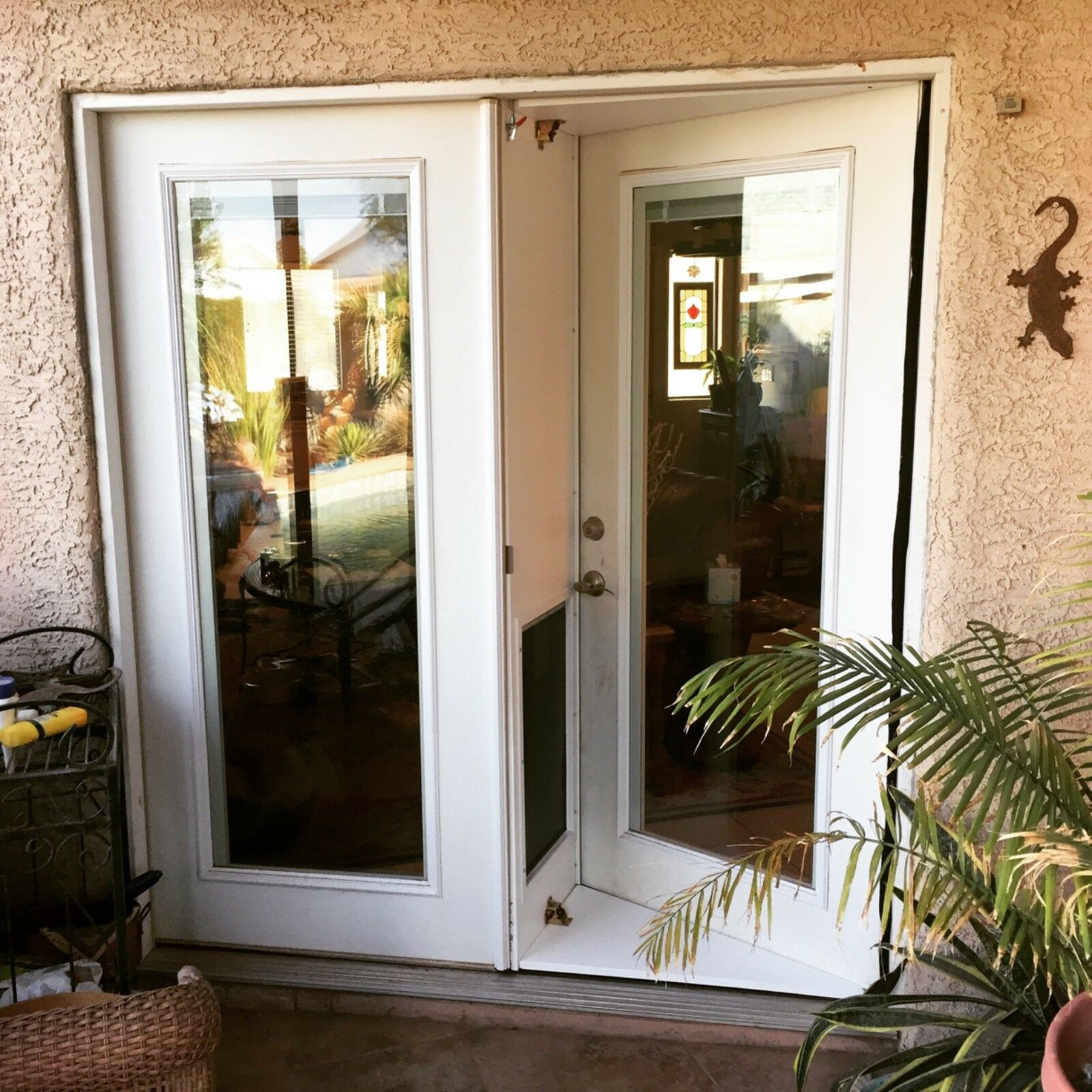 Pet Door for for for French Doors In or out Pet Products Large 1be383