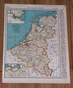 Details about 1937 VINTAGE MAP OF NETHERLANDS HOLLAND BELGIUM / FRANCE on 1st usa map, broken usa map, license plate usa map,