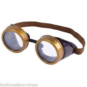 Steam-Punk-Round-Circular-Goggles-Glasses-Retro-Gaga-Mad-Professor-Fancy-Dress