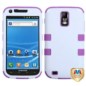 for Samsung Galaxy S2 T989 (T-Mobile) Purple White Hard ...