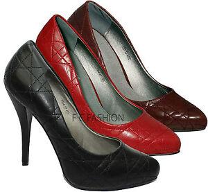 mujer-Zapatos-De-Salon-Tacon-Alto-Oficina-Elegante-Fiesta-Noche-Plataforma