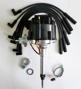 Details about CHEVY Inline 6 / Straight 6 194-216-235 HEI Distributor &  BLACK Spark Plug Wires