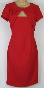New-Roman-Originals-Red-Pencil-Dress-Work-Occasion-dress-Uk-size-10-20