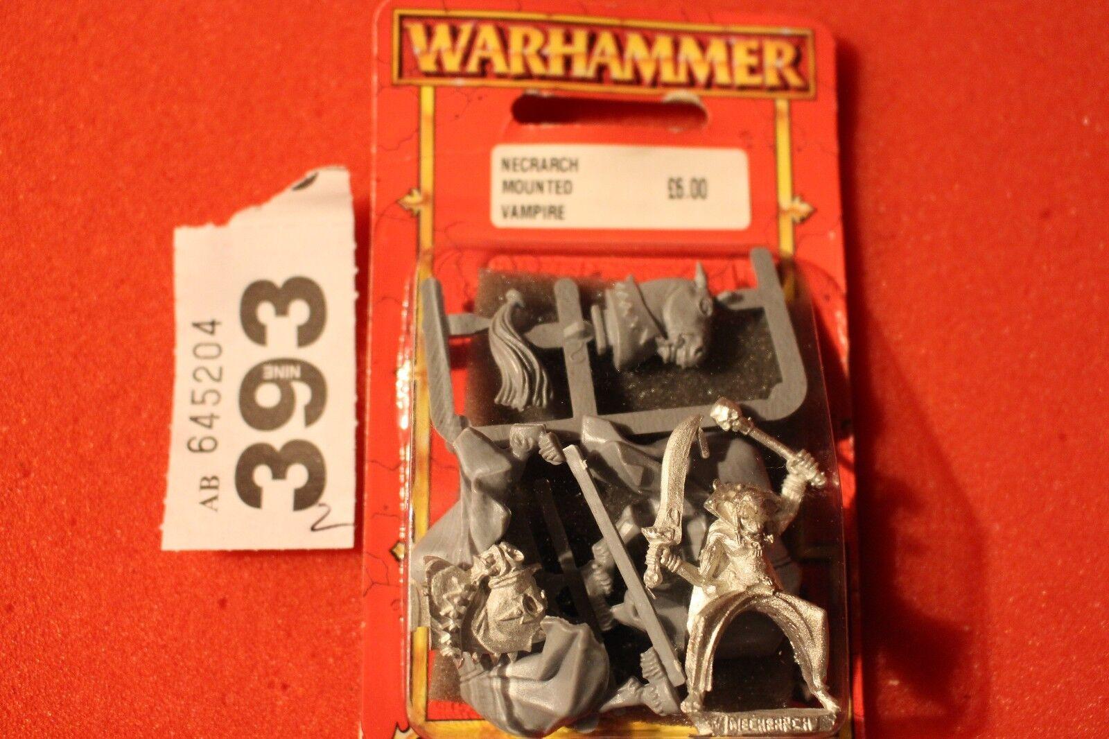 Games Workshop Warhammer Necrarch Vampires Mounted Metal Figure Undead New OOP