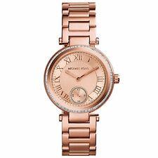 NWT New Michael Kors Women's Mini Skylar Rose Gold Glitz Bracelet Watch MK5971