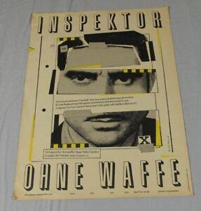 DDR Filmposter Filmplakat - Inspektor ohne Waffe - Progress Filmverleih  /S264