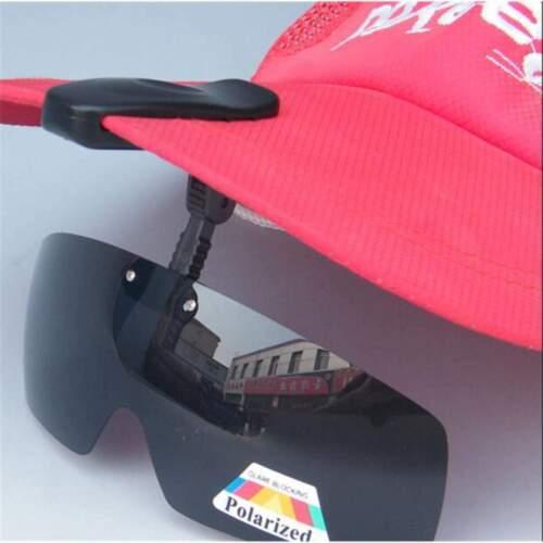 Men/'s Sunglasses Polarized Hat Visors Sport Clips Cap ClipOn For Fishing Biking
