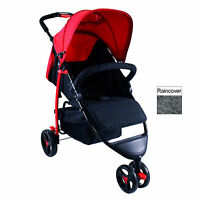 Red Kite Push Me Metro Stroller Compact Buggy Lightweight Pushchair Flame