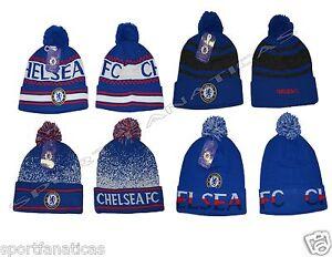 e5307b25d2a Image is loading Chelsea-Fc-Beanie-Pom-Pom-Skull-Cap-Hat-