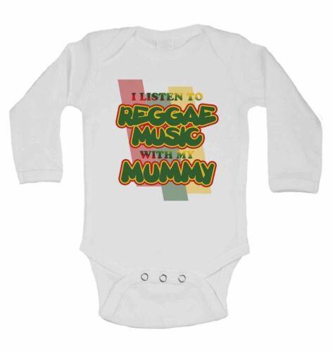 Escucho música reggae con mi madre-Manga Larga Baby Chalecos Para Niños Niñas