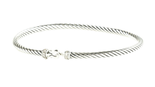 David Yurman Women S Cable Buckle Bracelet With Diamonds 3mm 495 New