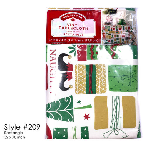 Holiday Time Tablecloths Print Vinyl SELECT STYLE//COLOR New