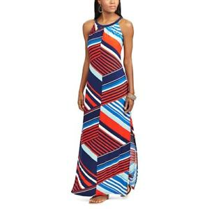 4c44a25107 CHAPS Womens Striped Jersey Maxi Dress (Womens Size MD   LG) NWT ...