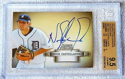 2012 Bowman Sterling Nick Castellanos Refractor Auto Card #150/199 BGS 9.5