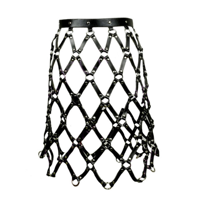 Cool Street Caged Weave Round Plaid Shaping Shaper Leather Harness