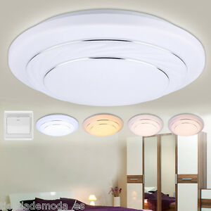 W Round LED Ceiling Light Modes Flush Mount Fixture Home Kitchen - Ebay led kitchen ceiling lights