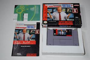 Madden 93 Super Nintendo SNES Video Game Complete in Box