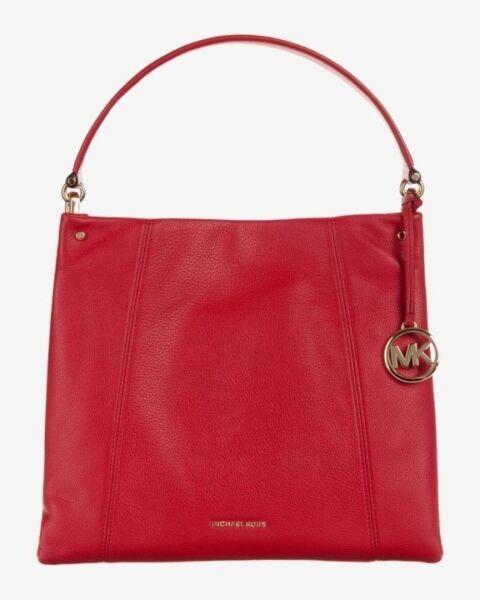 Michael Kors Lex Large Leather Hobo Bag Black Gold | Leather