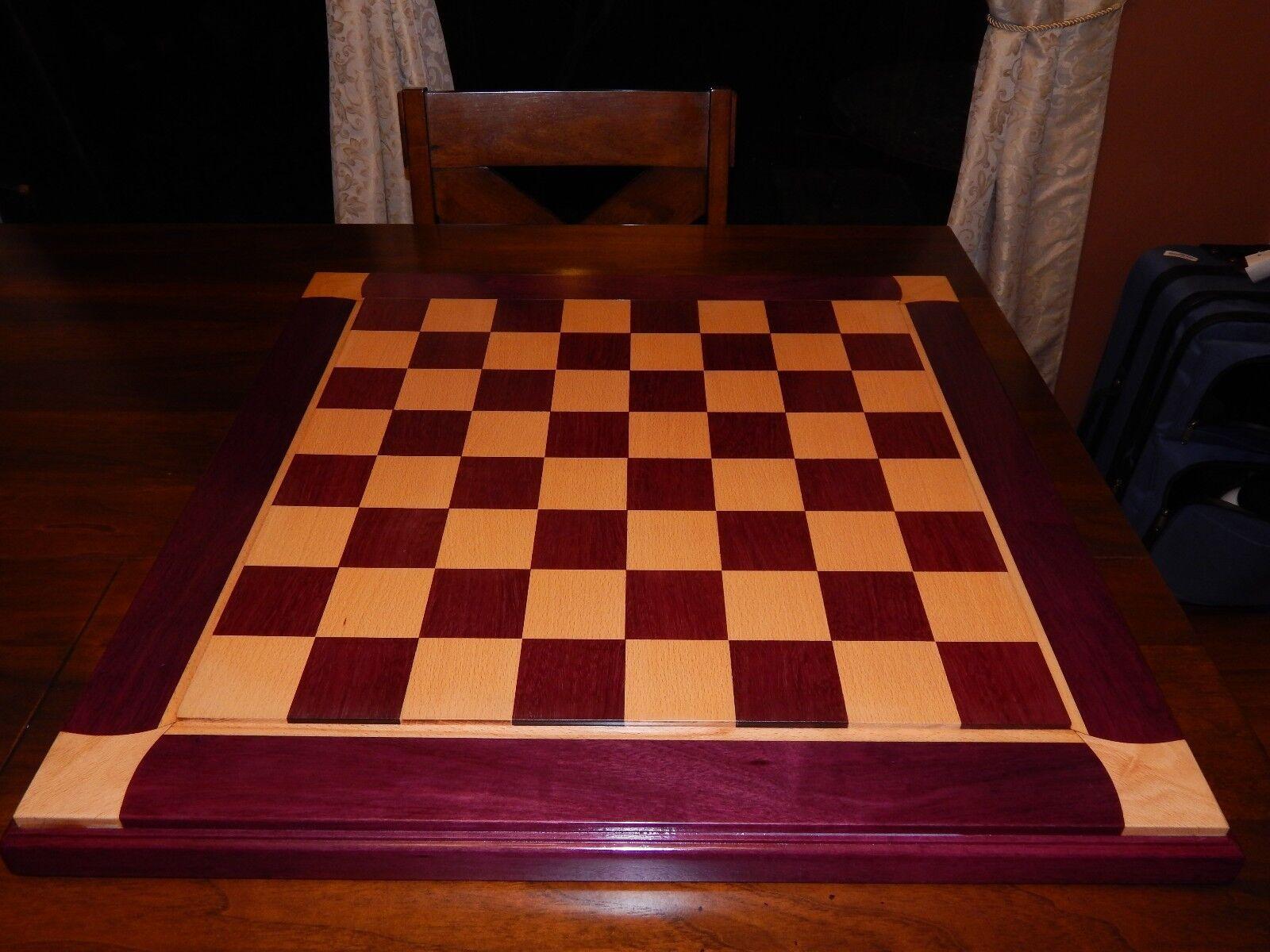 HANDMADE CHESS Boards, par  Brandon -- Très grand conseil. Neuf. 2.5  voiturerés.  expédition rapide à vous