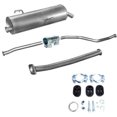 Vorderrohr Mittelrohr Montagesatz Endschalldämpfer  Auspuff Peugeot 206 1.4i