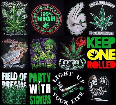 MarTs35  Z 10 Most Wanted Buds  Marijuana Weed Screen Printed  T-Shirts