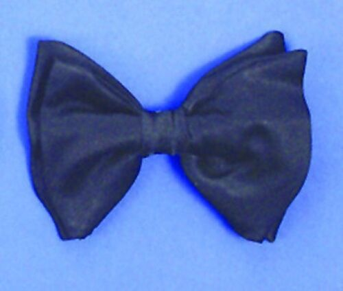 BLACK BOWTIE ELASTIC STRAP Clown Bow Tie Male Stripper Dancer Costume Tuxedo Gag