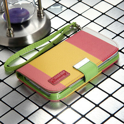 Hybrid Leather Wallet Flip Card Pouch Case Cover for Samsung Galaxy S4 SIV i9500