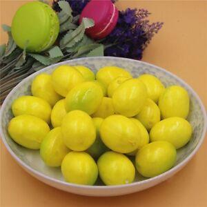 Pack-20-realiste-artificielle-synthetique-Lemon-Faux-Fruits-Miniature-Artisanat-Decorations