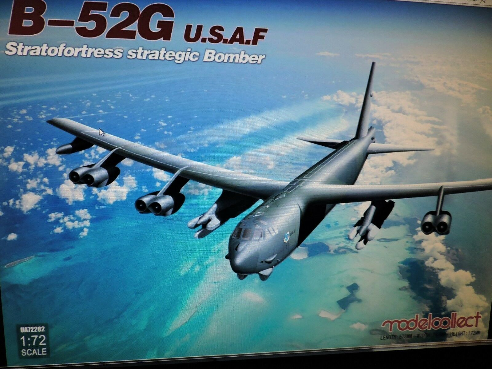 modellllerL KOLLECT 1  72nd skala USAF STRATEGISK AIR COM USAF modellllerL KIT ()