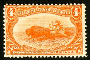 US-Stamps-287-F-OG-NH-Mint-State-Catalog-Value-275-00