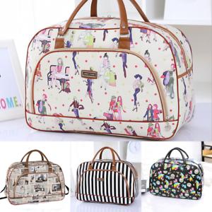 Leather Overnight Travel Weekend Hand Luggage Maternity Hospital Holdall Bag