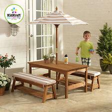 item 1 KIDKRAFT OUTDOOR KIDS CHILDREN TABLE AND BENCH SET CHAIR W/ CUSHION UMBRELLA -KIDKRAFT OUTDOOR KIDS CHILDREN TABLE AND BENCH SET CHAIR W/ CUSHION ...  sc 1 st  eBay & Kidkraft Child Heart Table and Chair Set 26913 | eBay