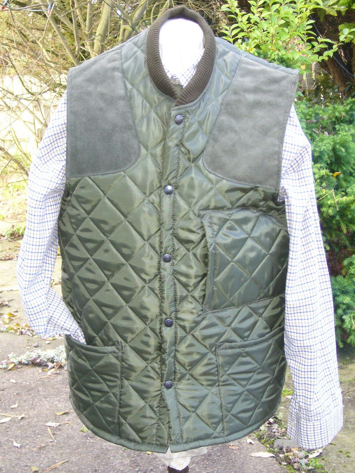 SHOOTING VEST QUILTED GrößeS S-XXXL CLAYS SHOOTING HUNTING OLIVE NEW