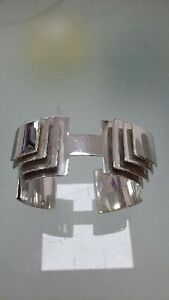 Bangle-925-Unique-Silver-Trendy-Cuff-Ladies-Womens-Jewellery-Hand-Crafted