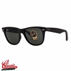 Black Frame Ray Ban Sunglasses : RAY-BAN ORIGINAL WAYFARER SUNGLASSES RB2140 901 Black ...