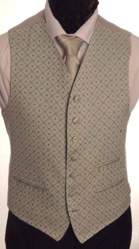CW47 para hombre//niños plata diamante chaleco de punto//vestido//suit//formal