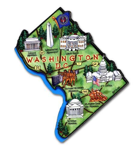 All 50 State Artwood Jumbo Magnets Plus Washington DC