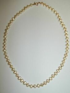 Beautiful-Chunky-Pearls-with-Gold-plated-Accent-Beads-Necklace-18-034-L