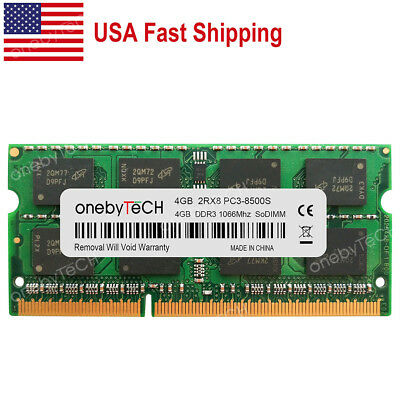 2X 1GB 1066Mhz DDR3 RAM Memory PC3-8500S for MacBook Pro A1286 2008 2009 2010