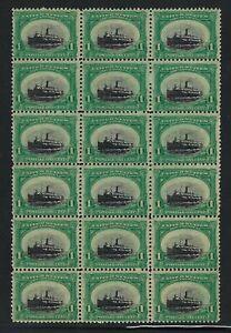 294-VAR-SINKING-SHIP-BLOCK-OF-18-NEVER-HINGED