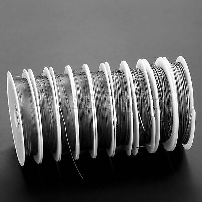 Fishing Tackle 1*7 Strands Stainless Steel Braided Wire Fishing line 0.3-1mm